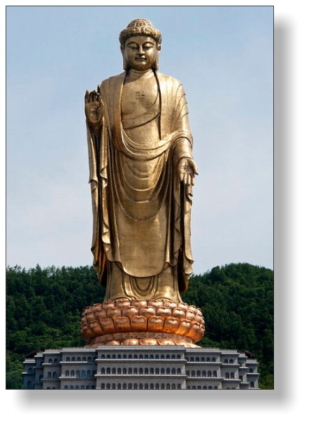 153 m hohe Buddha-Statue in Lushan/China