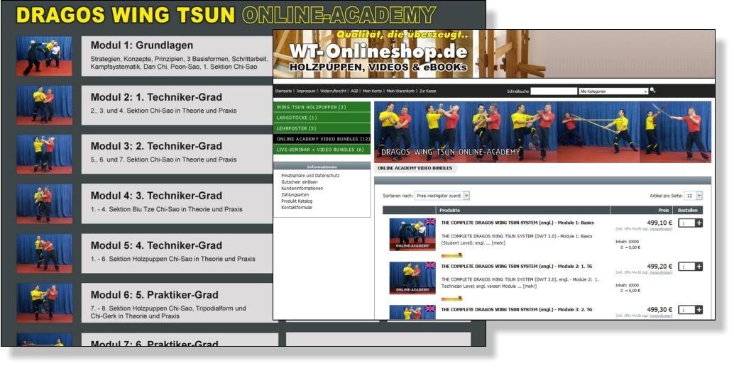 DRAGOS WING TSUN Online Academy Videos auf WT-Onlineshop.de