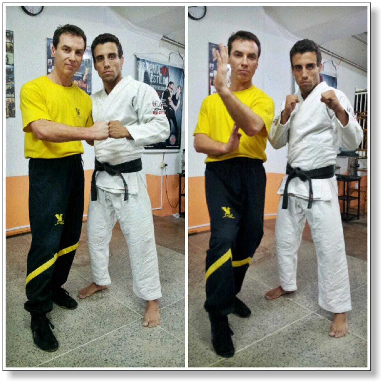 Freundschaft, Respekt und Achtung - Dai-Sifu Martin Dragos mit dem BJJ-Champion Francisco Caetano