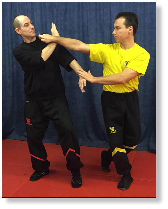Zwei Wing Tsun Enthusiasten in Aktion - Remo Dannebauer und Sifu Dragos in Aktion