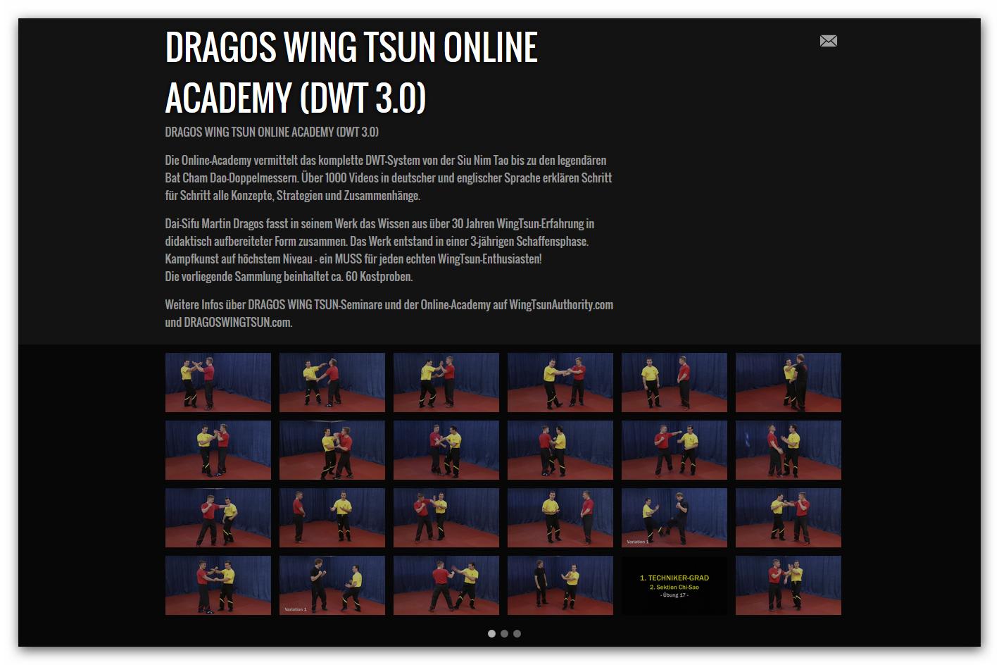 Auszüge und Kostproben der DRAGOS WING TSUN Online-Academy