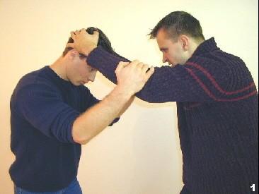 Sifu Dragos wird von seinem Gegner am Kopf gegriffen