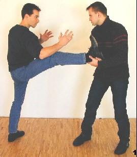 Sifu Dragos wird vom Gegner am Fußende gegriffen